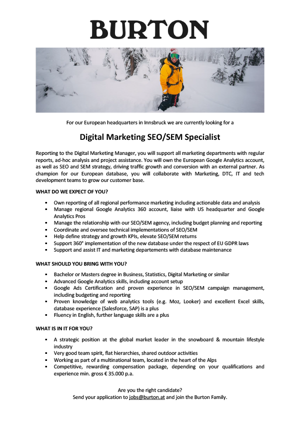 Digital Marketing SEO/ SEM Specialist
