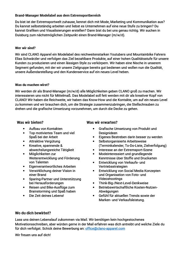 Brand Manager / Grafiker (m/w/d)