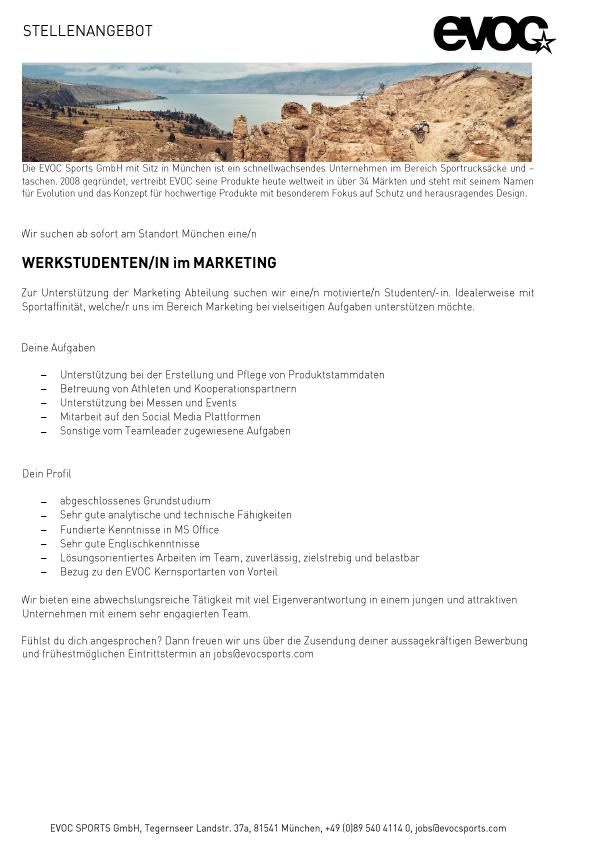 WERKSTUDENT/IN FÜR MARKETING