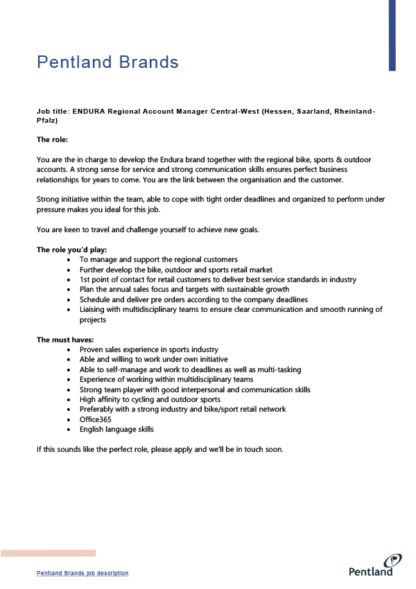 Regional Account Manager Central-West