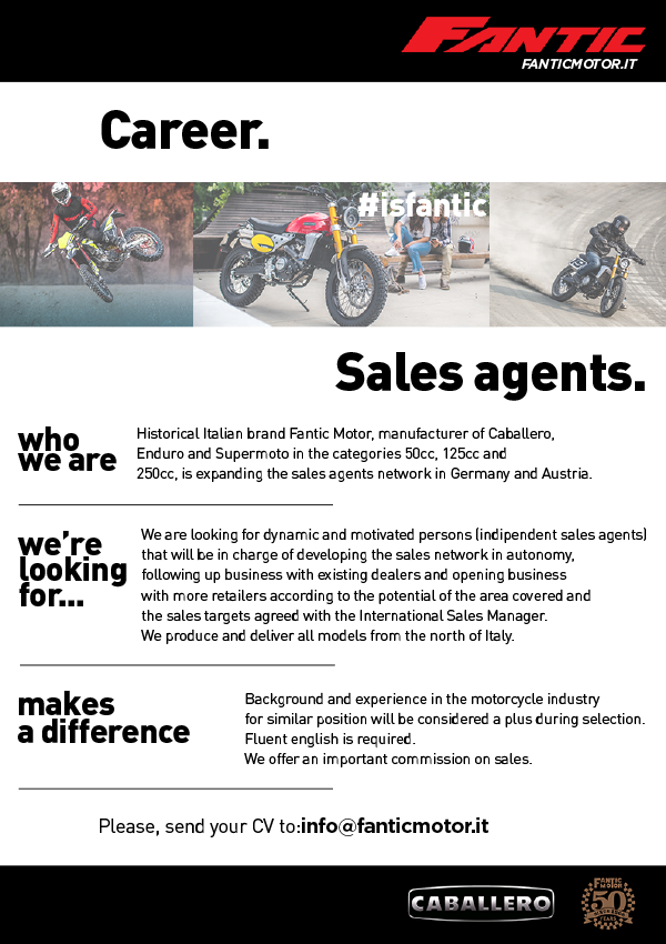 Sales Agent motorcycle