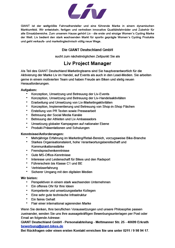 Liv Project Manager