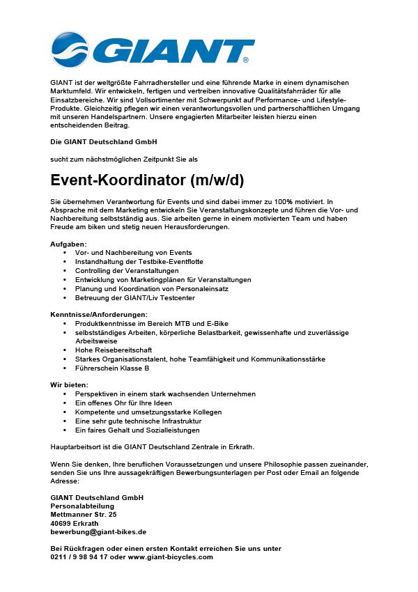 Event-Koordinator (m/w/d)