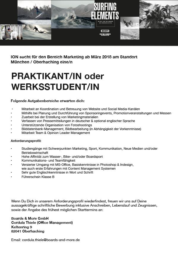 PRAKTIKANT/IN oder WERKSSTUDENT/IN