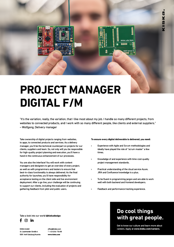 PROJECT MANAGER DIGITAL