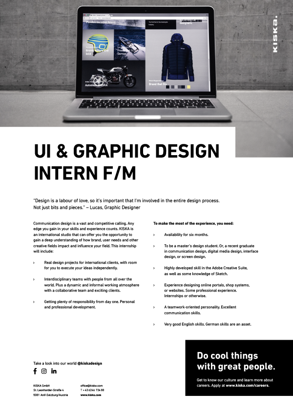 UI & GRAPHIC DESIGN INTERN