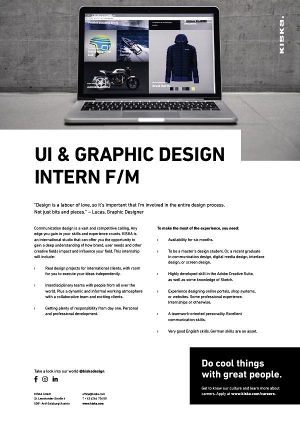 UI & GRAPHIC DESIGN INTERN