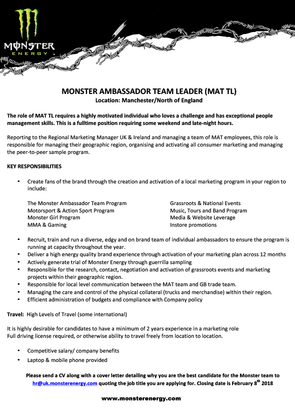 AMBASSADOR TEAM LEADER