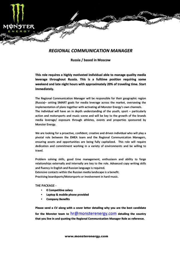 REGIONAL COMMUNI- CATION MANAGER