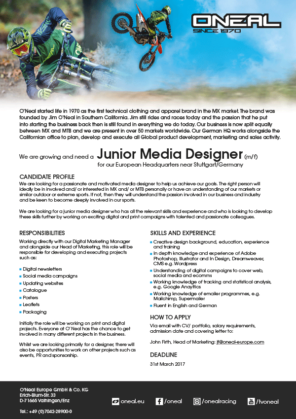 Junior Media Designer (m/f)