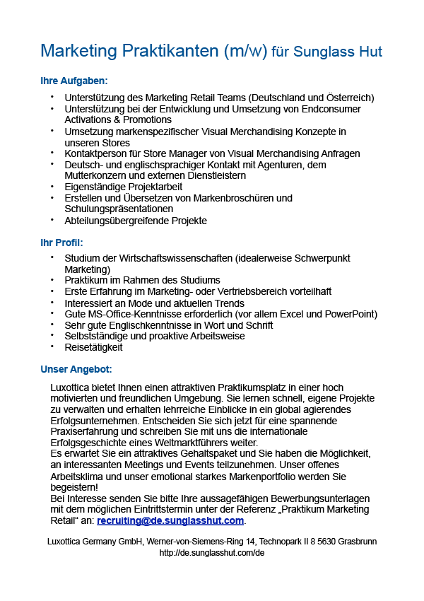 Marketing Praktikant (m/w)
