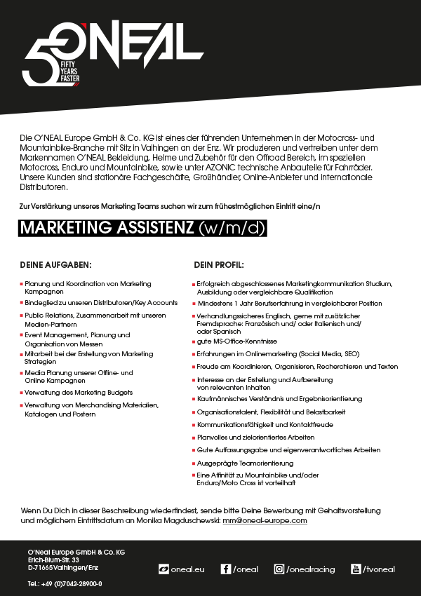 Marketing Assistenz (w/m/d)