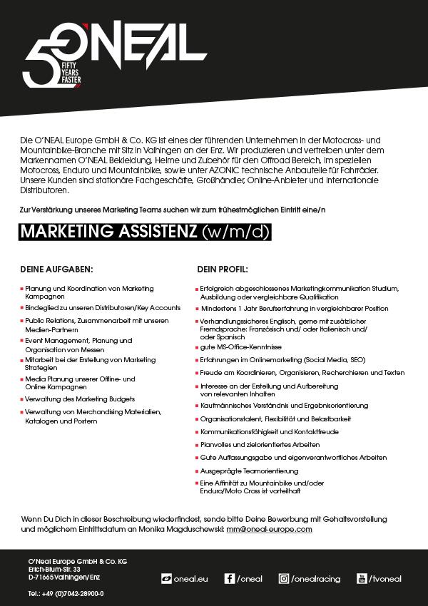 Marketing Assistenz (w/m/d)