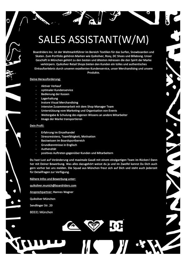 Sales Assistant m/w