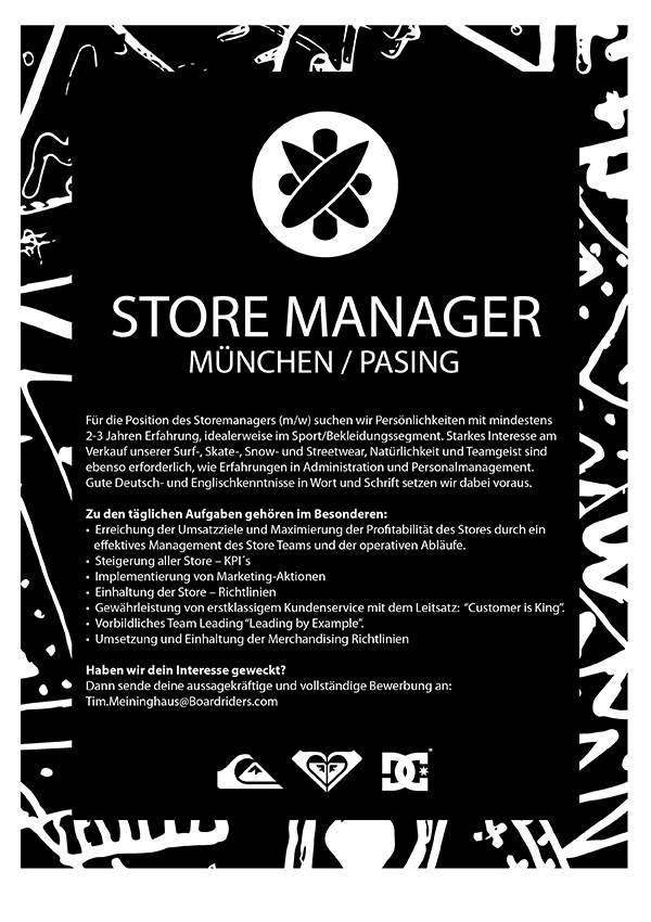 Store Manager (m/w/d)