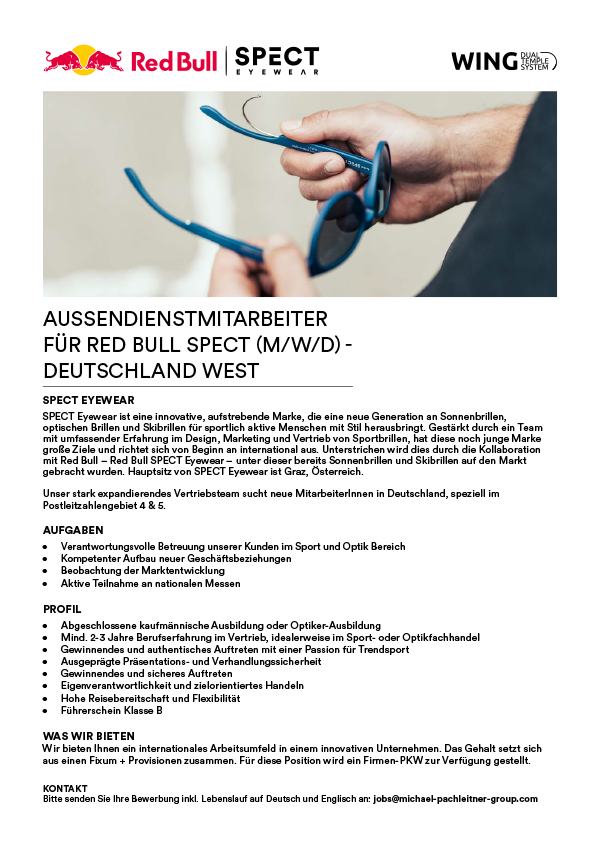SALES AMBASSADOR (M/W) DEUTSCHLAND – WEST