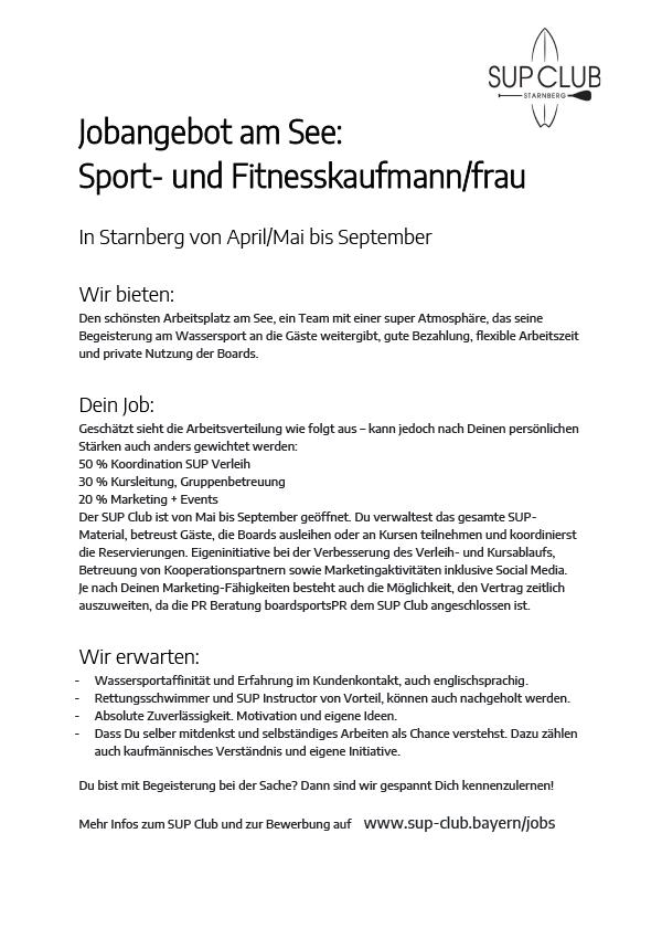 Sport- und Fitnesskaufmann/frau