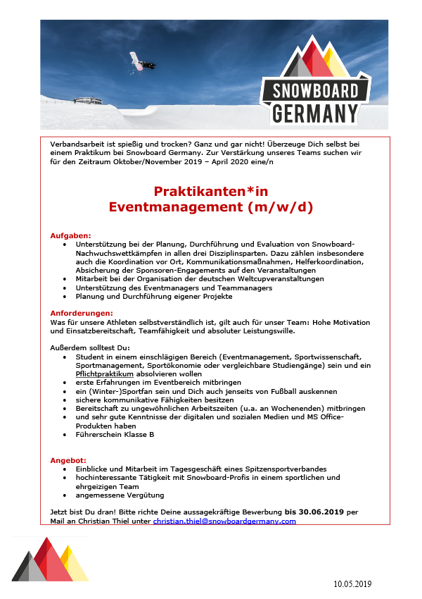 Praktikanten*in Eventmanagement (m/w/d)