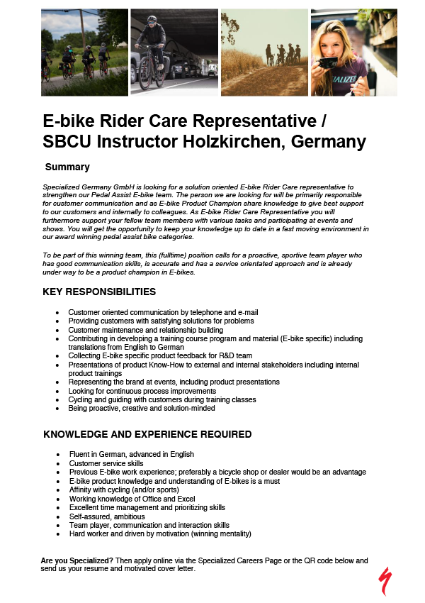 E-bike Rider Care Representative / SBCU