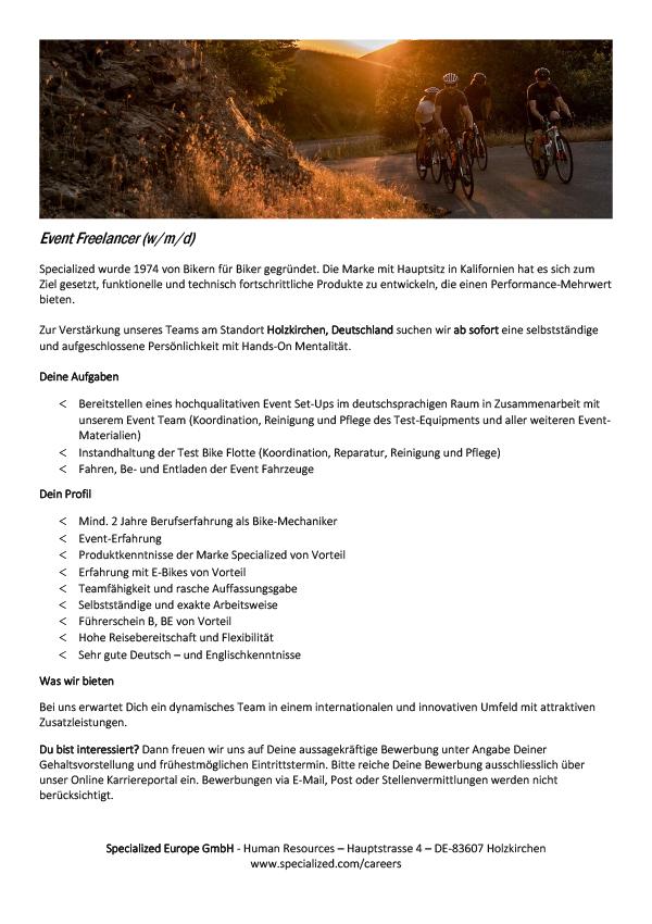 Event Freelancer (w/m/d)