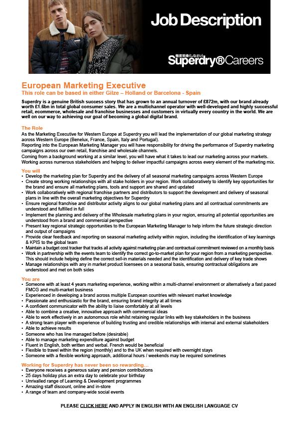 European Marketing Executive