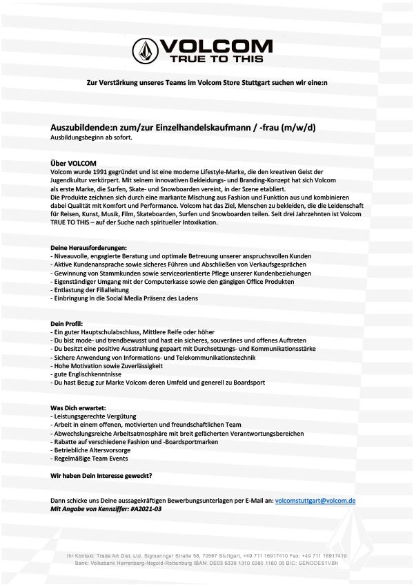 Auszubildende:n zum/zur Einzelhandelskaufmann / -frau (m/w/d)
