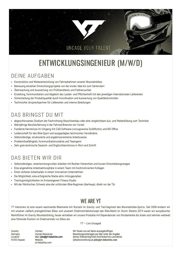 ENTWICKLUNGSINGENIEUR (M/W/D)