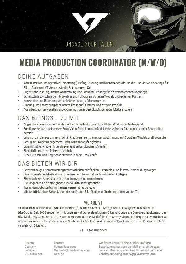 MEDIA PRODUCT COORDINATOR (M/W/D)