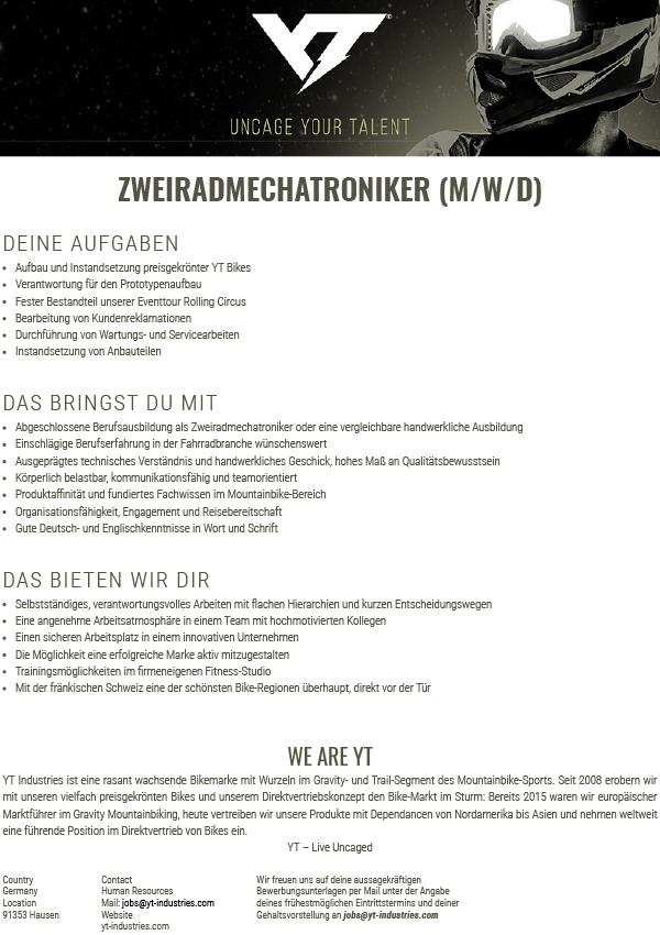 ZWEIRADMECHATRONIKER (M/W/D)