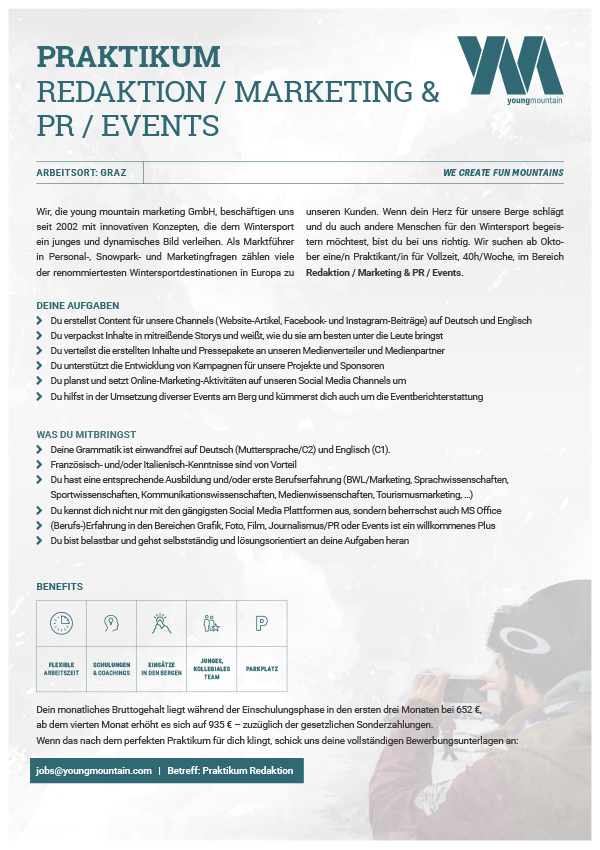 Praktikum Redaktion / Marketing & PR