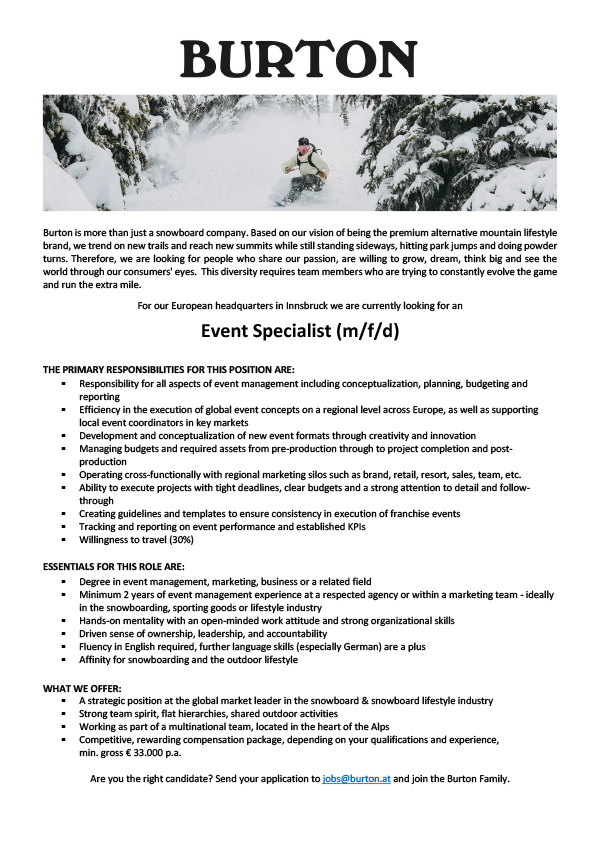Event Specialist (m/f/d)