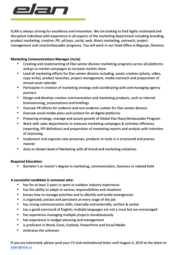 Marketing Communications Manager (m/w)