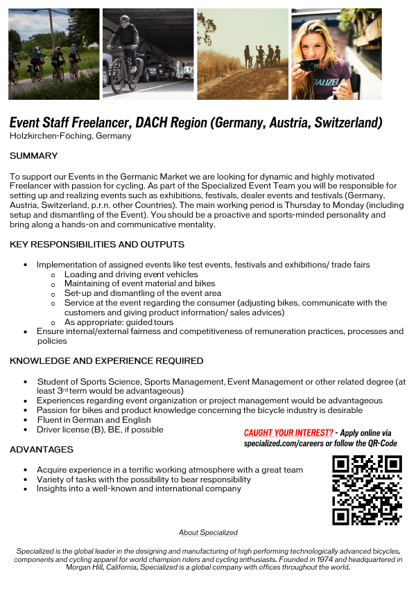 Event Staff Freelancer, DACH (GER, AUT, SUI)
