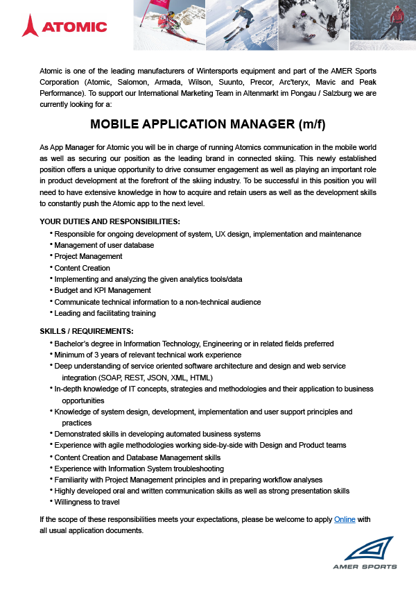 Mobile Application Manager (m/f)